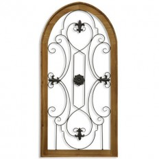 Metal Scroll & Wood Gate Wall Decor | Pier 1 Imports