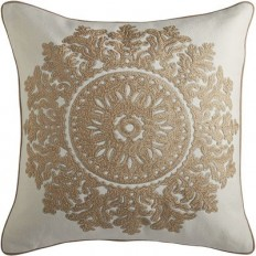 Romantic Glam Natural Medallion Pillow | Pier 1 Imports