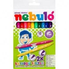 Kétvég? filctoll készlet 12 színes lemosható filctoll - Nebuló Ft Ár 639
