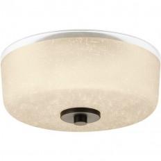 Shop Progress Lighting Alexa 12.25-in W Antique Bronze Flush Mount Light at Lowes.com