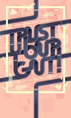 Trust your gut! · Poster on Inspirationde