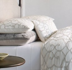 Textural Seed-Stitch Cotton Bedding Collection
