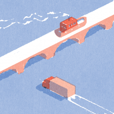 It's Nice That | Lorenzo Gritti uses minimal colour and details for his digital illustrations