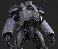 Heavy exoskeleton by Christophe LACAUX | Robotic/Cyborg | 3D | CGSociety