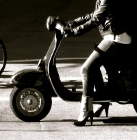 Vespa & Heels Waiting at the Light | Flickr - Photo Sharing!