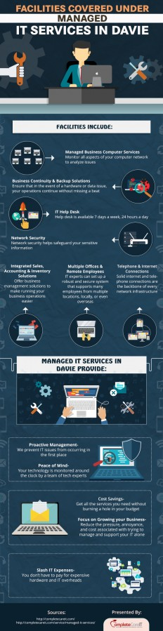 What Facilities You Can Get Under Managed IT Services in Davie [Infographic] - Complete Care IT