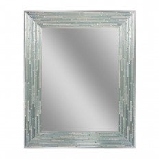 Deco Mirror 30 in. L x 24 in. W Reeded Sea Glass Wall Mirror-1205 - The Home Depot