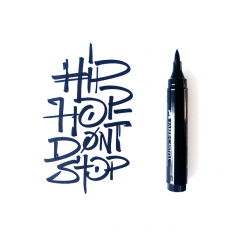 Calligraphy and lettering – Hip Hop Don't Stop on Inspirationde
