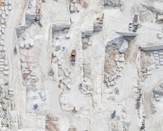 Aerial Views of The Carrara Marble Mines by Bernhard Lang
