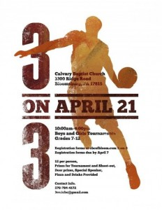 Basketball Tournament Poster on Inspirationde