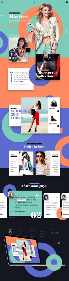 LV — Fashion brand • UI/UX on Inspirationde