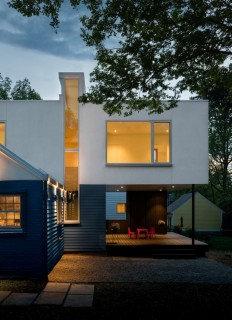 Contemporary Box-Shaped Extension for a Bungalow Home in Maryland on Inspirationde