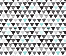 Geometric tribal aztec triangle blue modern patterns fabric - littlesmilemakers - Spoonflower