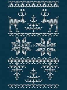 """nordic knit pattern"" Art Prints by Anastasiia Kucherenko 
