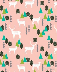 """Reindeer Forest - Blush by Andrea Lauren"" Art Prints by Andrea Lauren 