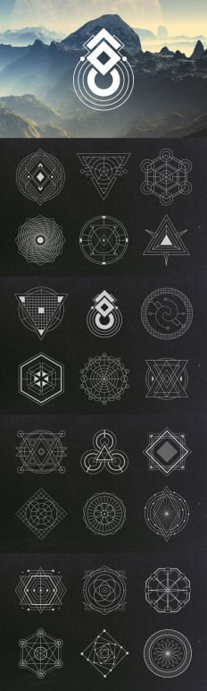 Sacred Geometry Vectors on Inspirationde