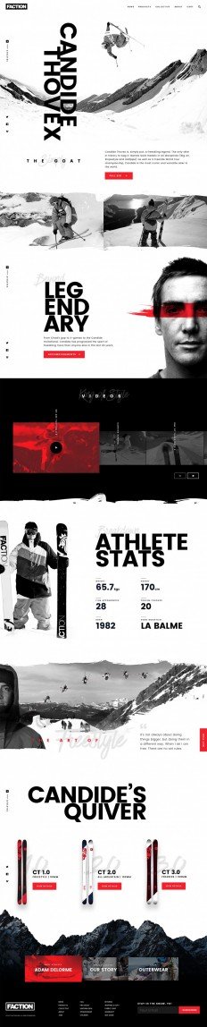 Faction Athlete Page by Ross Legacy on Inspirationde