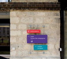 Signage of the Briqueterie in Vitry - AGI