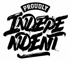 """PROUDLY INDEPENDENT"" logo for Macro Beats djs on Inspirationde"