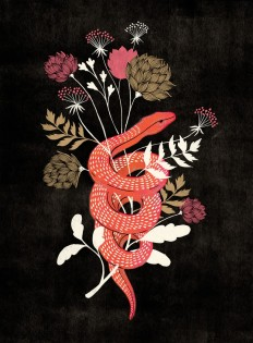 Bloom Snake and Flowers by Marissa Johnson on Inspirationde