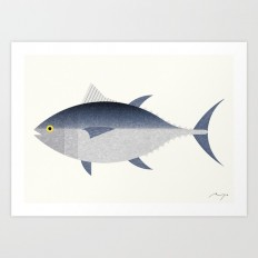 Tuna, 02 Art Print by ryotakemasa | Society6