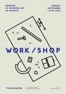 Museum of Modern Art in Warsaw Work/shop Poster on Inspirationde