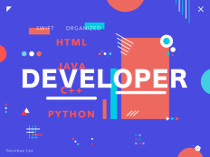 """Developer – colorful poster exploration by Geunbae """"GB"""" Lee on Inspirationde"""