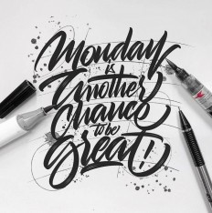 Monday is your fresh start, go ahead and crush your week. Lettering by @luislili on Inspirationde