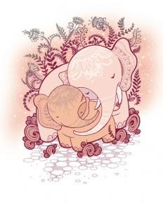elephant_baby_love_by_eva_sangnoir-d5do5bb.jpg (475×594)