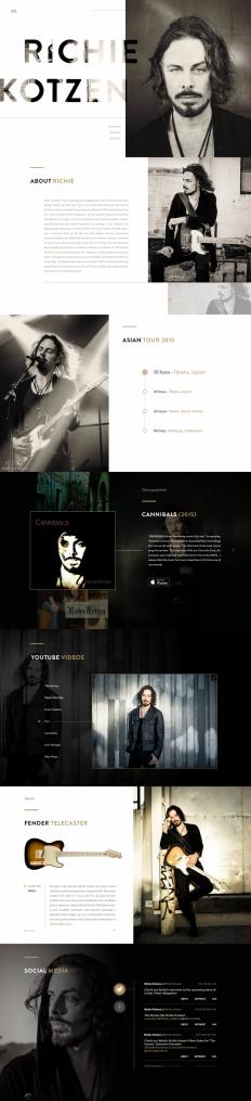 Richie Kotzen Website by Tulus Driyo on Inspirationde