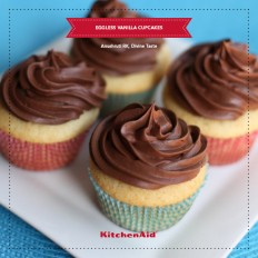 Eggless Vanilla Cupcakes With Chocolate Buttercream Icing