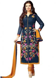 Unstitched Salwar Suit & Semi-Stitched Salwar Suit Combo By 1 Stop Fashion - HomeShop18.com