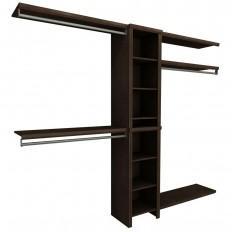 ClosetMaid Impressions 82.46 in. H x 108 in. W x 14.57 in. D Laminate 6-Piece Basic Closet System in Walnut-33025 - The Home Depot