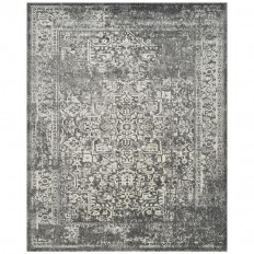 Shop Safavieh Evoke Isla Gray/Ivory Rectangular Indoor Machine-Made Oriental Area Rug (Common: 9 x 12; Actual: 9-ft W x 12-ft L) at Lowes.com