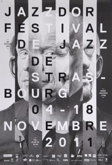 Poster for Jazzdor Festival, 2011. Design by Helmo. on Inspirationde