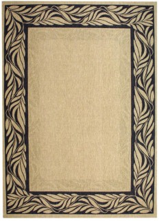 Grey Floral Border Indoor Outdoor Rug - Safavieh.com