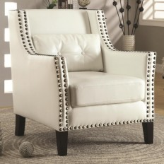 Coaster Accent Seating Transitional Wing Chair with Nail Heads - Coaster Fine Furniture
