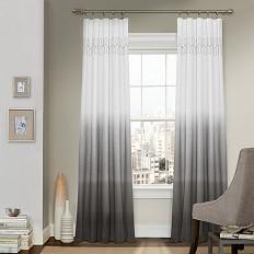 Vue™ Signature Arashi Rod Pocket/Back Tab Window Curtain Panel - Bed Bath & Beyond