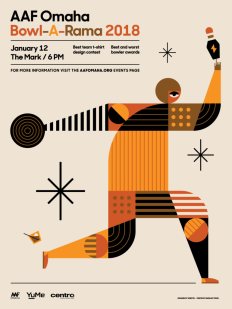 AAF Omaha Bowl-A-Rama 2018 Poster by Sean Heisler on Inspirationde