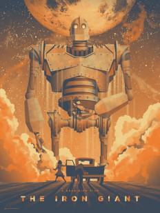 Space io The Iron Giant Mondo Art Print on Inspirationde