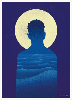 Moonlight / Poster for Delve's Weekly Movie - Downgraf.com - Design Shop