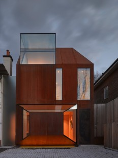 Cor-Ten House in Putney on Inspirationde