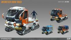 ArtStation - Antarctica snow truck concept, Ben Zhang