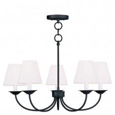 Livex Lighting Providence 5-Light Black Incandescent Ceiling Chandelier-5275-04 - The Home Depot
