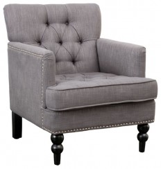 Madene Tufted Back Fabric Club Chair - Traditional - Armchairs And Accent Chairs - by GDFStudio