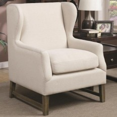 Accent Chair With Wing Back Design - Transitional - Armchairs And Accent Chairs - by JP Home Interiors LLC