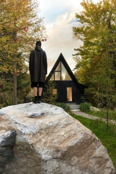 A-Frame Cottage by Jean Verville Architecte on Inspirationde