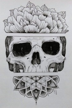 Sugar Skull by Mathilde Jakobsen on Inspirationde