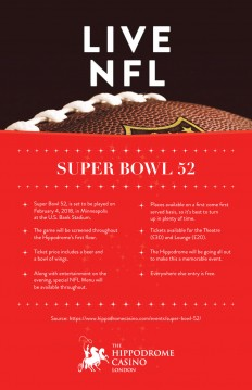 Hippodrome Casino — SUPER BOWL 52
