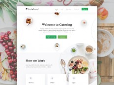 Catering Demand Homepage Design Full View by Masudur Rahman ? - Dribbble